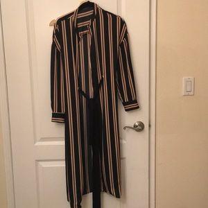 Zara stripe shirts dress